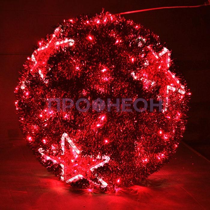 Световая фигура «Шар», красный, 40 см